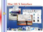 mac os x interface