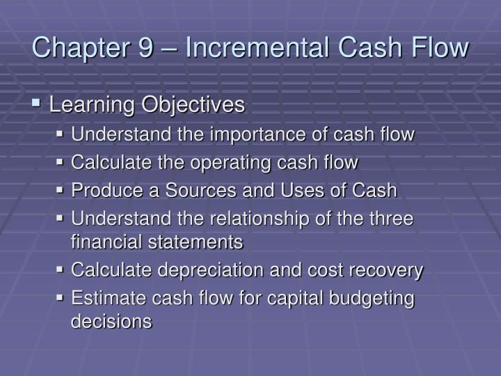chapter 9 incremental cash flow n.