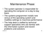 maintenance phase1