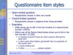 questionnaire item styles