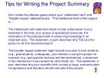 tips for writing the project summary24