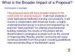 what is the broader impact of a proposal18