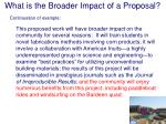 what is the broader impact of a proposal22