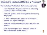 what is the intellectual merit of a proposal