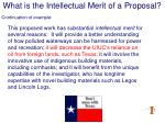 what is the intellectual merit of a proposal14