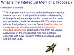 what is the intellectual merit of a proposal15