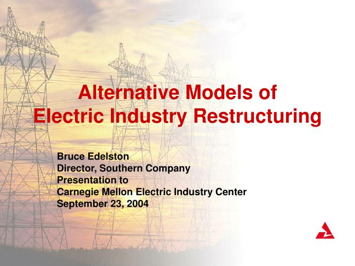 alternative models of electric industry restructuring n.
