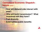 centralized economic dispatch issues cont1