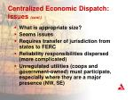 centralized economic dispatch issues cont2