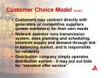 customer choice model cont