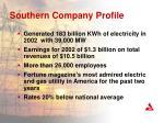 southern company profile
