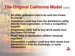 the original california model cont