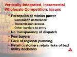 vertically integrated incremental wholesale competition issues