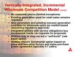 vertically integrated incremental wholesale competition model cont