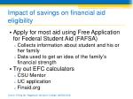 impact of savings on financial aid eligibility3