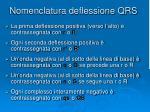 nomenclatura deflessione qrs