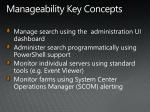 manageability key concepts