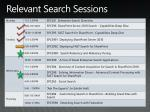 relevant search sessions