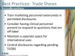 best practices trade shows