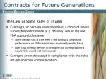 contracts for future generations