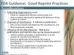 fda guidance good reprint practices