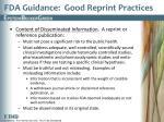fda guidance good reprint practices1