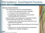 fda guidance good reprint practices2