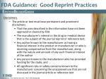 fda guidance good reprint practices3