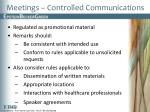 meetings controlled communications