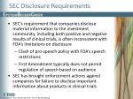 sec disclosure requirements
