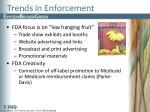 trends in enforcement