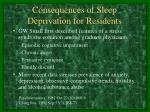 consequences of sleep deprivation for residents1