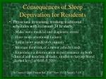 consequences of sleep deprivation for residents3