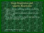 sleep deprivation and appetite regulation