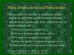 sleep deprivation and performance1