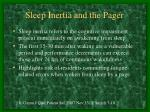 sleep inertia and the pager