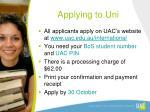 applying to uni