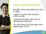 uac international guide