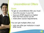 unconditional offers1