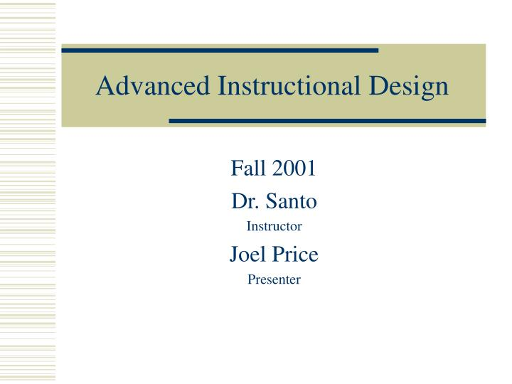 advanced instructional design n.