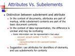 attributes vs subelements