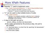 more xpath features