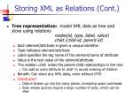storing xml as relations cont1