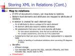 storing xml in relations cont