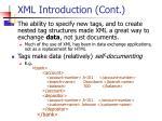 xml introduction cont