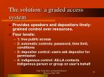 the solution a graded access system
