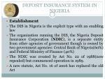 deposit insurance system in nigeria