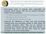 the role of deposit insurance in consumer protection cont d2