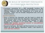 the role of deposit insurance in consumer protection