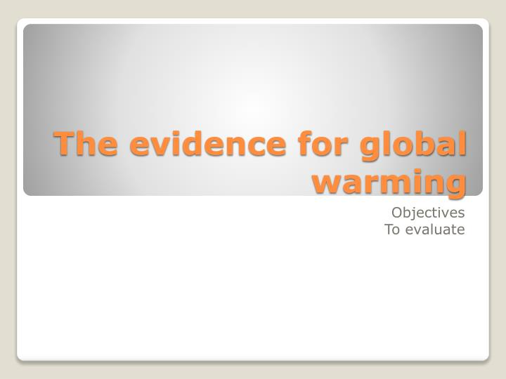 the evidence for global warming n.